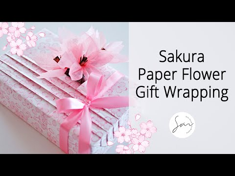 DIY Paper Sakura 🌸 Gift Wrapping