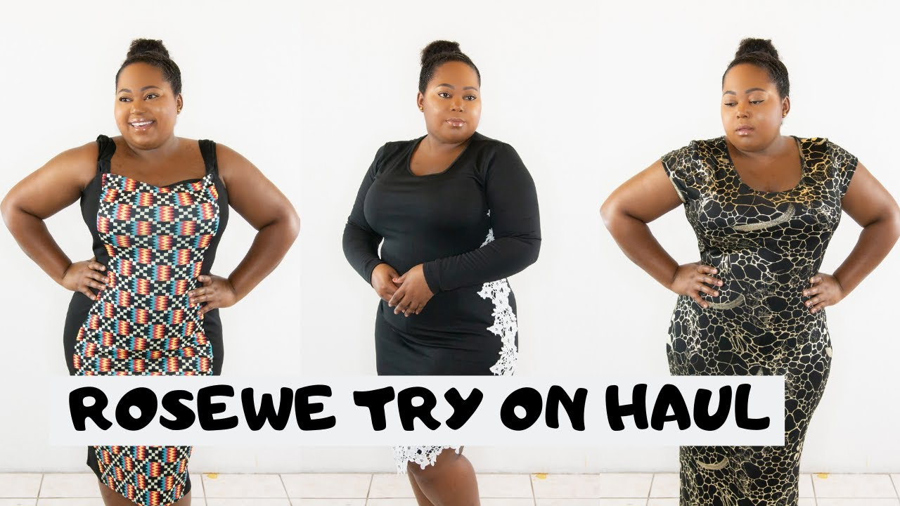 ba8cd06ec4a5 ROSEWE PLUS SIZE TRY ON HAUL Download video - get video youtube