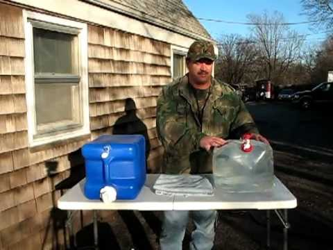 Water Storage For You Camp and How to Sanitize The Water Storage Containers
