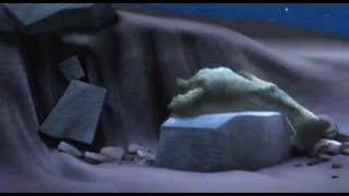 Ice Age 1: Sid Trying to Sleep on a Stone