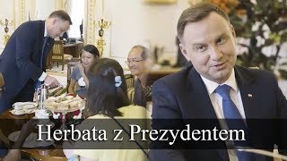 Herbata z Andrzejem Dudą / Polish President invited tourists from Taiwan and Singapore for tea
