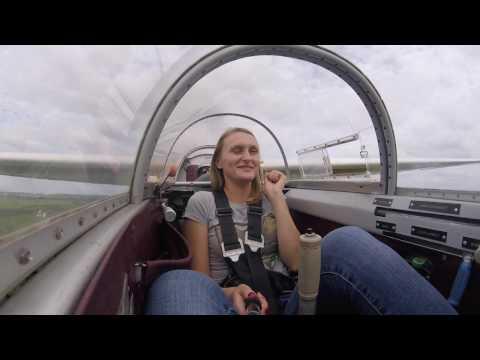 Flight with Polina on glider Blanik L-13