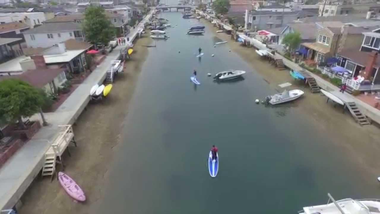 Sup Balboa Island Newport Beach Aerial