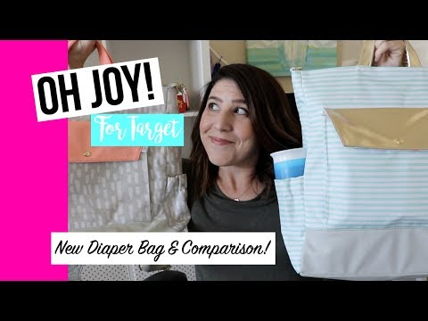 Oh Joy! for Target Diaper Bags | New Backpack & Comparison | Packing Video