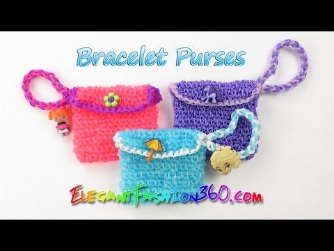 Rainbow Loom Elsas Bracelet Purses - How to Loom Bands Tutorial