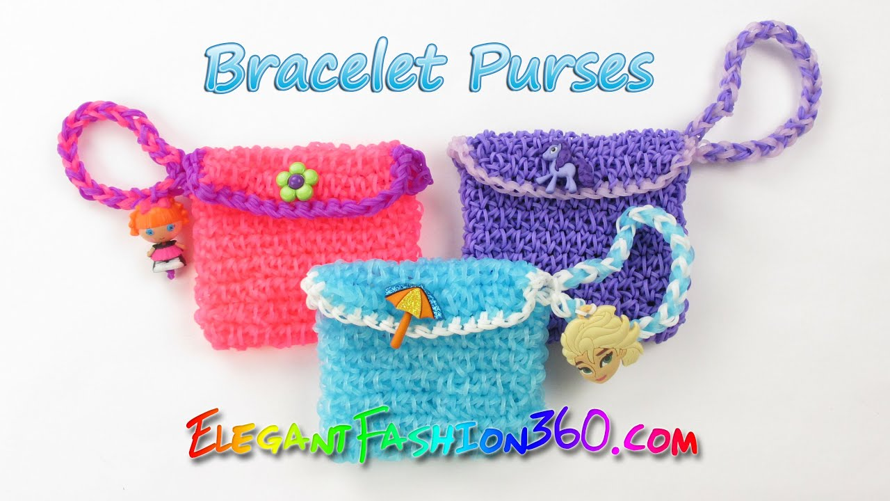 Rainbow Loom Elsa S Bracelet Purses How To Loom Bands