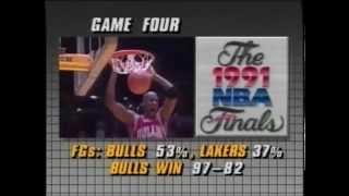 Lakers Vs Bulls 1991 NBA Finals (Part 1)
