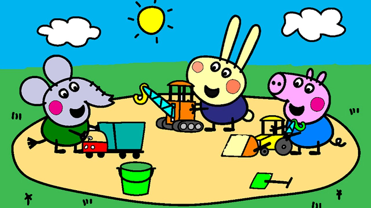 peppa pig coloring pages for kids peppa pig construction site