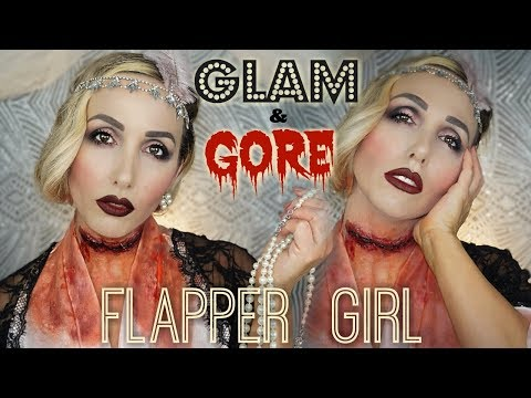 GLAM AND GORE 1920's FLAPPER GIRL | COLLAB JENESSA SHEFFIELD | JESSICAFITBEAUTY thumbnail