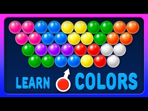 Learn Colors with Bubble Shooter Game - Colours for Kids to Learn - Learning Videos