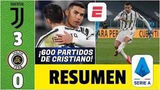 Juventus 3-0 Spezia. GOL de Cristiano Ronaldo en su partido 600. Nuevo RÉCORD de CR7. | Serie A