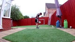 Kid Shows Off Soccer Skills