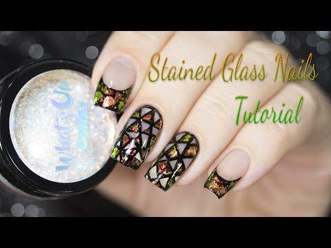 Stained Glass Nails Tutorial / Витражный дизайн ногтей