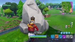 Fortnite top 2 royal battle with Nutcracker skin