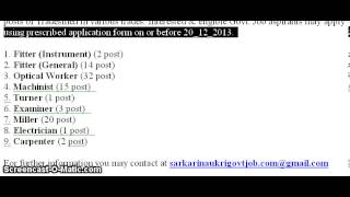 Ordnance Factory Dehradun Recruitment 2013