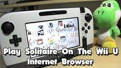 Play Solitaire On The Wii U Internet Browser