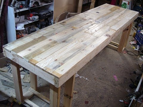 How to Wax Wood and Buff Desk Top Finished - DIY Pallet Computer Desk Part 9