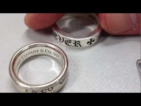 Chrome Hearts and Tiffany & Co. Rings 2 Silver 925