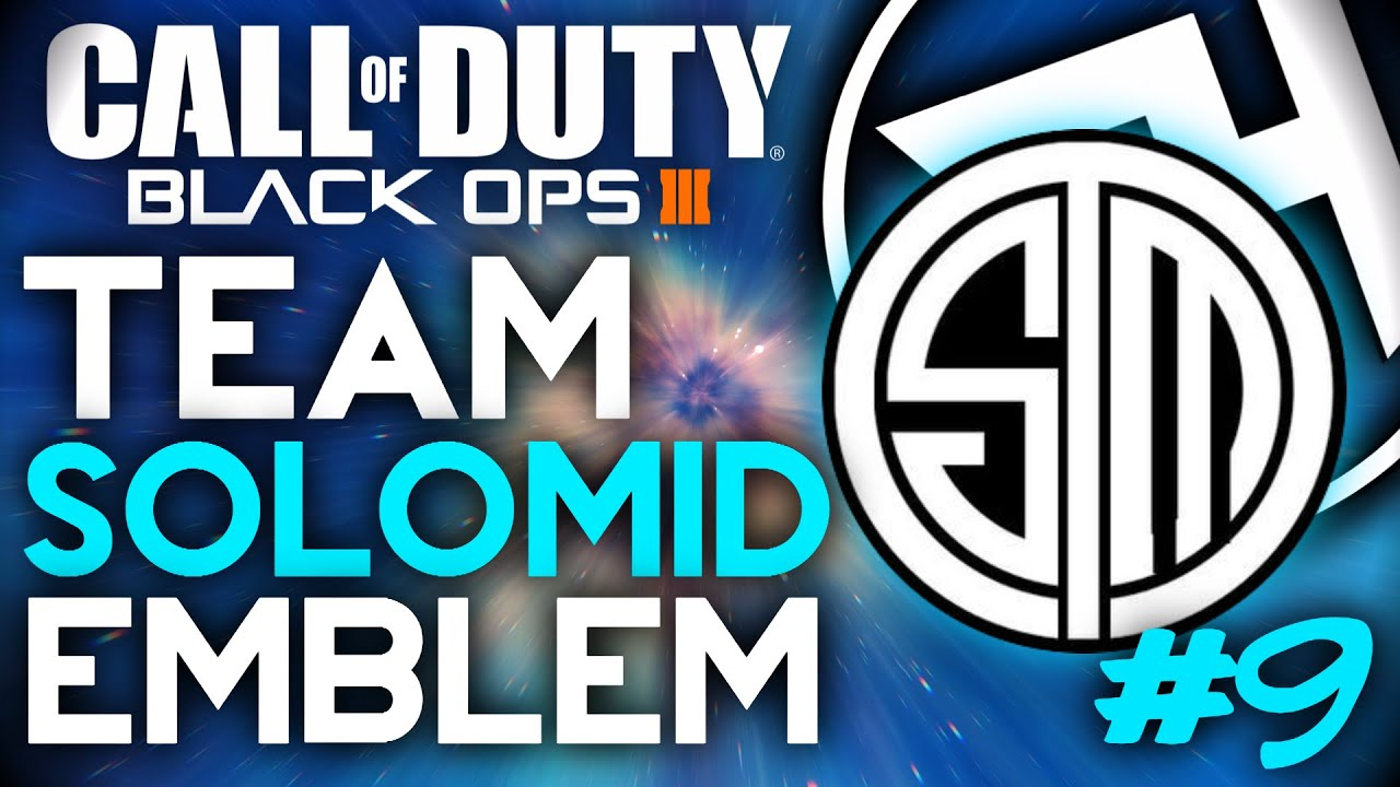 black ops 3 team solomid tsm logo easy emblem tutorial