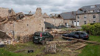 Instants d'orages – Dégâts causés par une tornade de niveau F2 - F3 sur une exploitation agricole