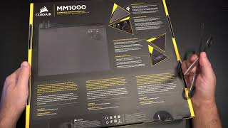 CORSAIR MM1000 Qi Wireless Charging Mouse Pad Unboxing