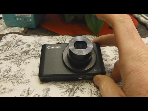 Canon S110 Lens Replacement - Lens Error Won't Retract Stuck FIX!!
