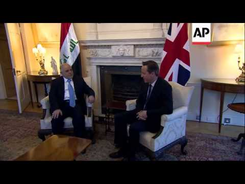 UK PM meets Iraqi PM al-Abadi