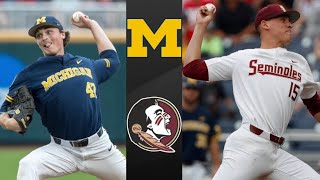 Michigan vs Florida State College World Series Winners Bracket | College Baseball Highlights