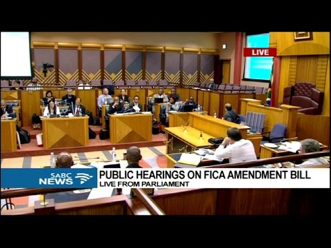 Public hearings on FICA amendment bill: 25 January 2017