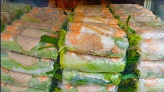 Gỏi cuốn tôm thịt (Oanh) hơn 13 năm luôn đông khách bởi vị mắm nêm cực ngon | street food