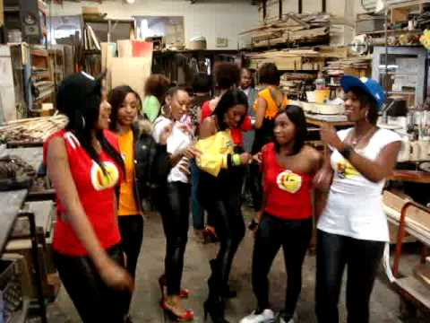 Exclusive Behind the scenes footage, at Tim Barrett DESIGNS production studio, of some of an interview during the music video shoot with the G-Spot BOYZ's girls from Dallas, TEXAS.
