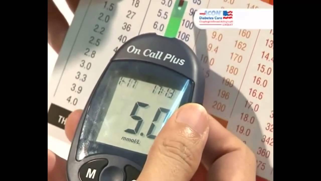 Hướng dẫn sử dụng máy đo đường huyết On call plus
