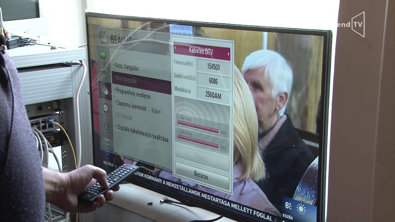 Digitális csatornák beállítása az új kábeltelevíziós rendszeren