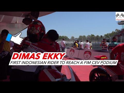 Dimas Ekky Pratama Pembalap Indonesia Pertama Podium Di CEV MOTO2