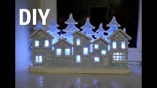 New Year's decor 2020  Detachable composition 'Winter houses'