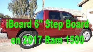 "IBoard 6"" Brushed Aluminum Running Board Full Unboxing & Install On 2017 Ram 1500"