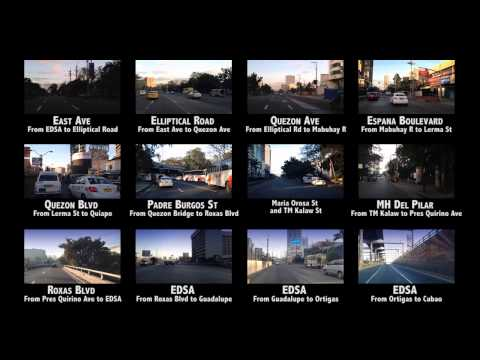 Metro Manila Roads - Video Index Navigation - Interactive Menu