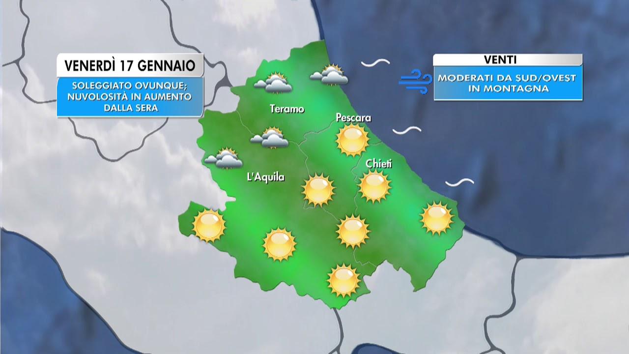 Il Meteo - Abruzzo | Previsioni per venerdì 17 gennaio ...
