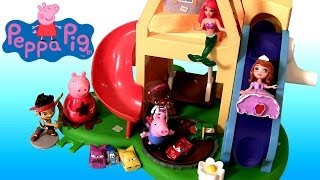 Peppa Pig Wind & Wobble Playhouse Weebles With Playdoh Muddy Puddles Slide Peppa Cars Micro Drifters