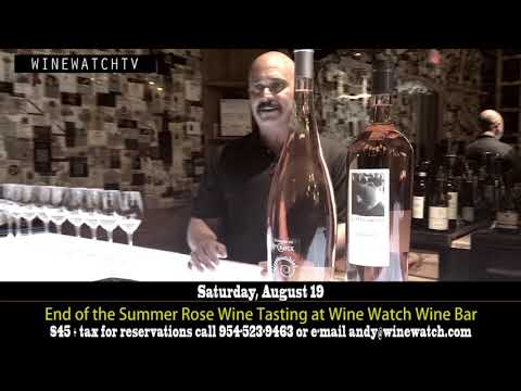 End of the Summer Rose Wine Tasting at Wine Watch Wine Bar - click image for video