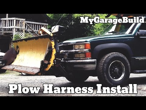 hqdefault how to install a fisher plow wiring harness on a chevy truck youtube  at bayanpartner.co