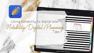 Notability Digital Planner | Using notability app to digital plan. Tips in Notability.