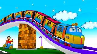 Chugging Express - Toy Factory Cartoon Train: Choo Choo Train Cartoon for