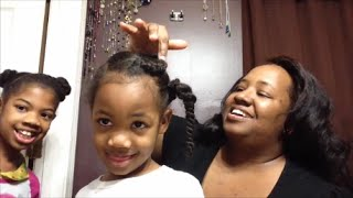 HOTD Hair of the Day ~ My Natural Hair Girls Daughters Like Disney Frozen Elsa Anna