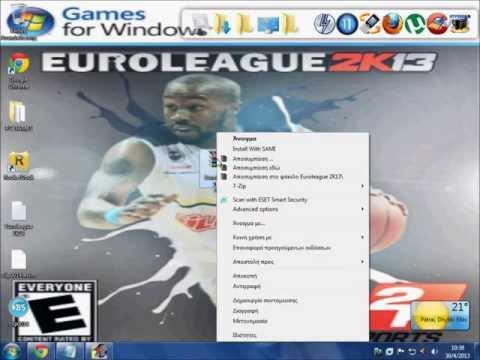 How to Install Euroleague 2K13(HD)