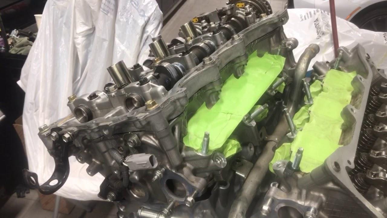 Toyota Lexus Engine 2GR-FKS 3 5 Liter V6 Rebuild Time Lapse