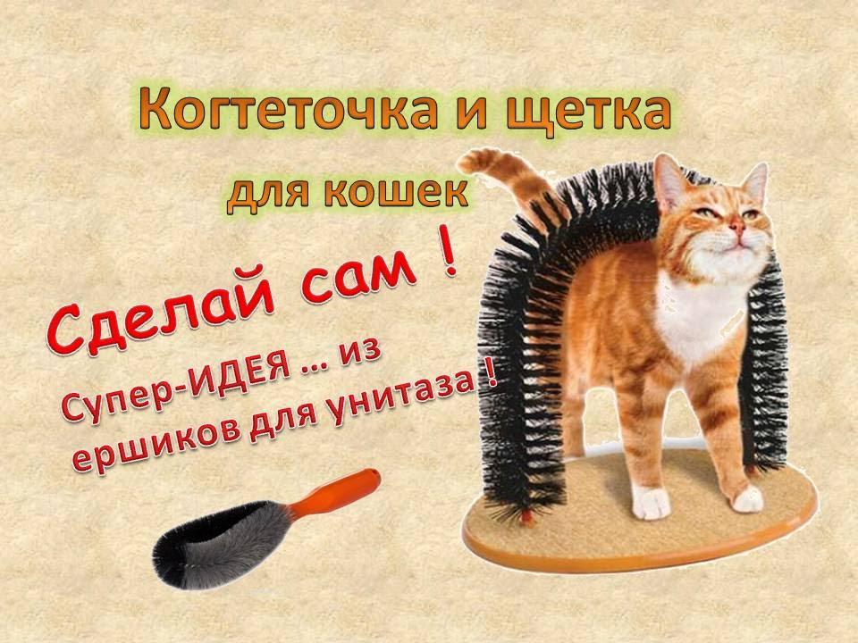 Практичная когтеточка для кошек своими руками - YouTube