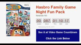 Hasbro Family Game Night Fun Pack Wii Countdown