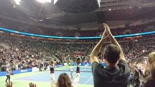 Roger Federer is unbelievable fast VS John Isner (on court view)