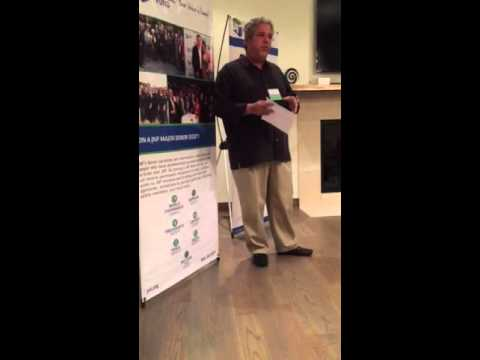 Alan Wolk, JNF co-president welcomes major donors